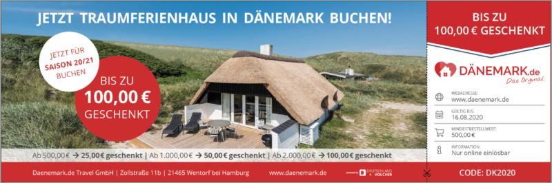 Ferienhäuser in Dänemark + 100€ Gutschein! + Daenemark.de Travel GmbH