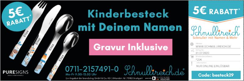 Kinderbesteck mit Gravur! Kinderbesteck mit Deinem Namen! Jetzt bei www.schnullireich.de 5€ geschenkt mit dem Gutschein-Code: besteck29 *gültig bis 31.07.2020