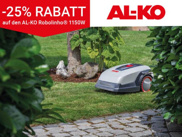 Jetzt Robolinho® 1150W Angebot sichern statt 1.199€ jetzt nur 899€ *25% RABATT auf denAL-KO Robolinho® 1150W. Gültig bis 30.06.2020 bei www.al-ko.com/robo1150w